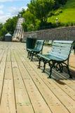 Terrasse Dufferin in de Stad van Quebec Stock Afbeeldingen
