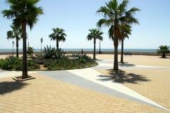 Terrasse durch das Meer Lizenzfreies Stockbild