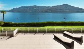 Terrasse eines Penthauses Stockfoto