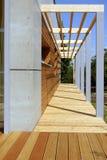 Terrasse en bois Photos libres de droits