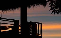 Terrasse en silhouette Images stock