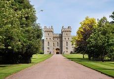 Terrasse est de château de Windsor en Angleterre Images libres de droits