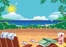 Terrasse et canapé de Sun Photos libres de droits