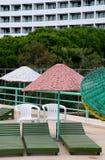 Terrasse et hôtel de Sun en Turquie Photographie stock libre de droits
