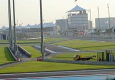 Terrasse et Pavillions de Trackside de circuit de Yas Image stock