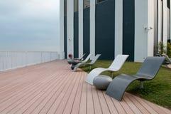 Terrasse extérieure de toit images libres de droits