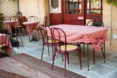 Terrasse in Frankreich stockfotos