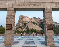 Terrasse grande commémorative nationale de vue du mont Rushmore photographie stock