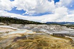 Terrasse Hot Springs de monticule images stock
