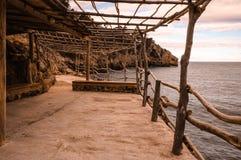 Terrasse im Mittelmeer Stockfotos