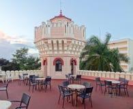 Terrasse in Kuba Stockbild