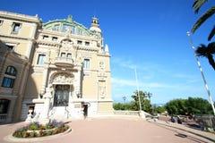 Terrasse latérale du casino du Monaco Images libres de droits