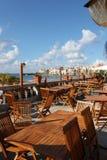 Terrasse mit Meer Lizenzfreie Stockfotos