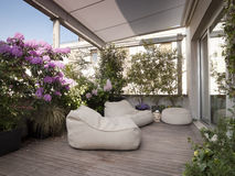 Terrasse moderne Photos libres de droits