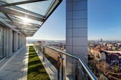 Terrasse moderne de bâtiment Photo libre de droits