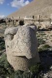 Terrasse occidentale du mont Nemrut, Turquie Photographie stock libre de droits