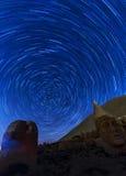 Terrasse occidentale du mont Nemrut, Turquie Images stock