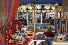 Terrasse orientale de restaurant Images libres de droits
