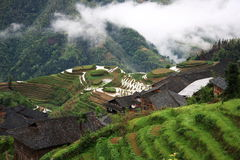 Terrasse ping'an de Longsheng Images stock