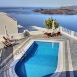 Terrasse rêveuse de relaxation photographie stock libre de droits
