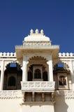 Terrasse royale Windows Udaipur Photographie stock