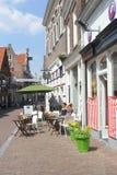 Terrasse scénique dans la ville de forteresse d'Amersfoort, Hollande Photographie stock libre de droits