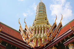 Terrasse supérieure. Fragment du Roi Palace à Bangkok Images stock