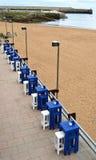 Terrasse sur la plage Photographie stock libre de droits