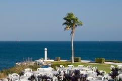Terrasse sur le bord de mer Photos libres de droits