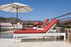 Terrasse tropicale de luxe photo stock