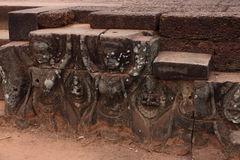 Terrasse von Elefanten, Angkor Thom Stockbild