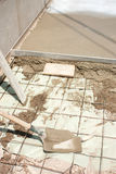 Terrasseaufbau lizenzfreie stockfotografie