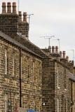 Terrassehäuser in Nordengland Lizenzfreie Stockfotos