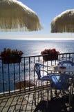 Terrassekaffee Stockbild