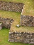 Terrassen bei Machu Picchu Stockfotografie