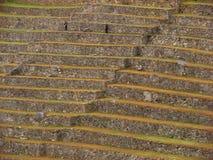 Terrassen bei Machu Picchu Stockfoto