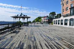 Terrassen Dufferin i Quebec City, Quebec Royaltyfria Bilder