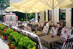 Terrassen in Novi Sad Servië Royalty-vrije Stock Afbeelding