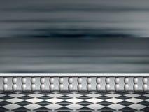 Terrassen och havet Fotografering för Bildbyråer