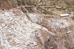 Terrassen van de Inca de zoute extractie Stock Foto's