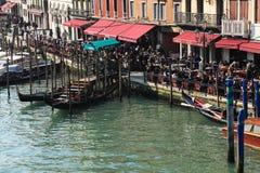 Terrassen in Venedig Stockbilder