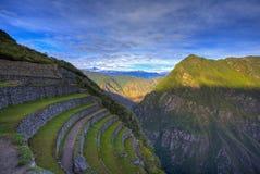 Terrassen von Machu Picchu lizenzfreies stockbild