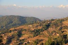 Terrassen von Nagarkot stockfoto