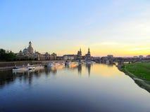 Terrassenufer в Дрездене Германии стоковое фото
