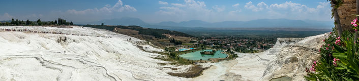 Terrasser av Pamukkale Royaltyfri Fotografi