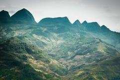 Terrasser på berg Royaltyfri Bild
