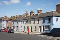 Terrasserat inhysa UK Arkivfoto