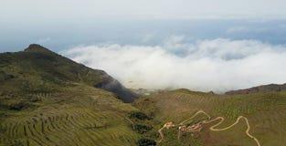 Terrasses à l'alto de Teno Image libre de droits