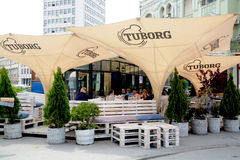 Terrasses à Novi Sad Serbie Images stock