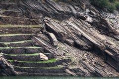 Terrasses antiques pour des vignobles Photos libres de droits